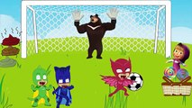 #PJ Masks vs #Masha and The Bear The Football Match PJ Masks #Catboy #Owlette #Crying For Losers