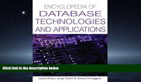 Read Encyclopedia Of Database Technologies And Applications FullBest Ebook