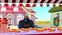 King Kong Hot Cross Buns Rhyme | Dinosaur Row your Boat Rhyme | Bear Rain Rain GO Away Nursery Song