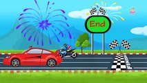 Sports Car Vs Sports Bike | Super Bikes | Fast Cars | Racing | Racing Videos For Kids