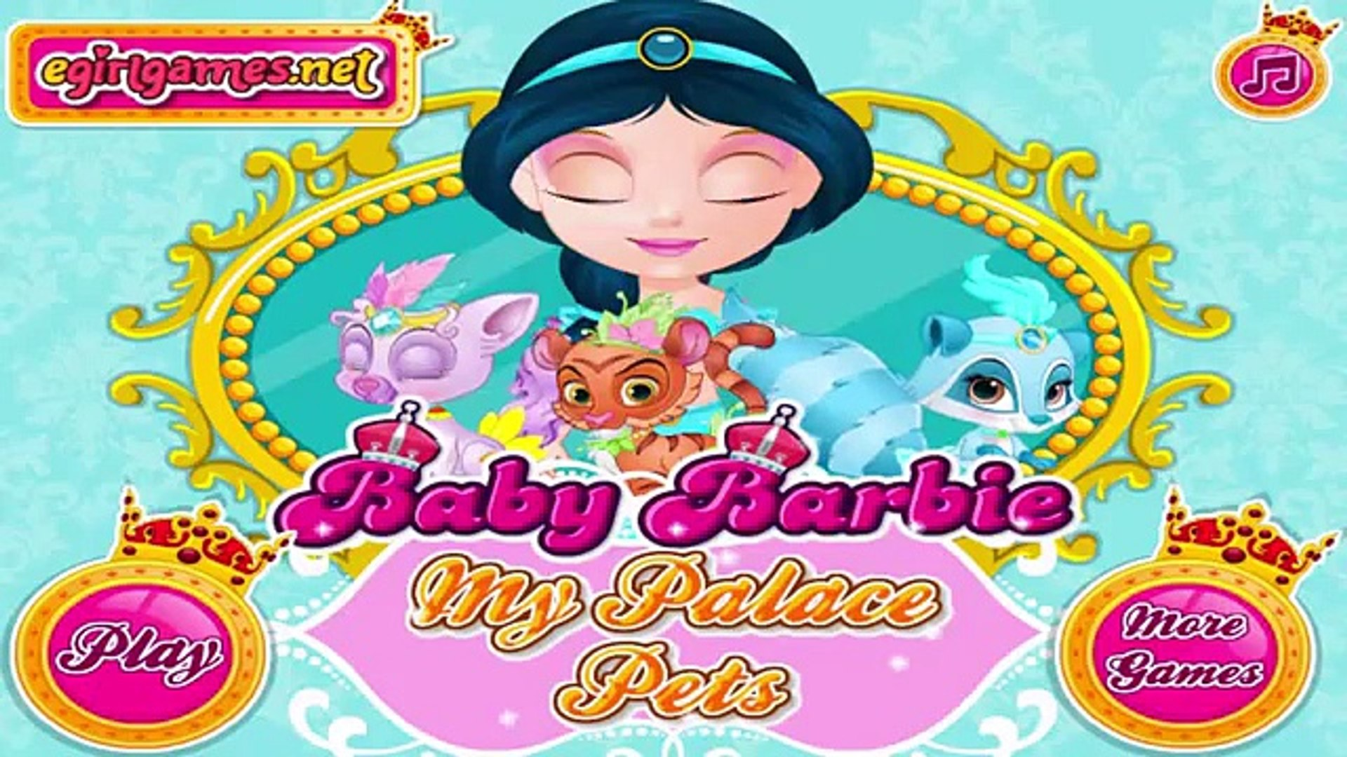 Baby Barbie My Palace Pets Barbie Games For Girls