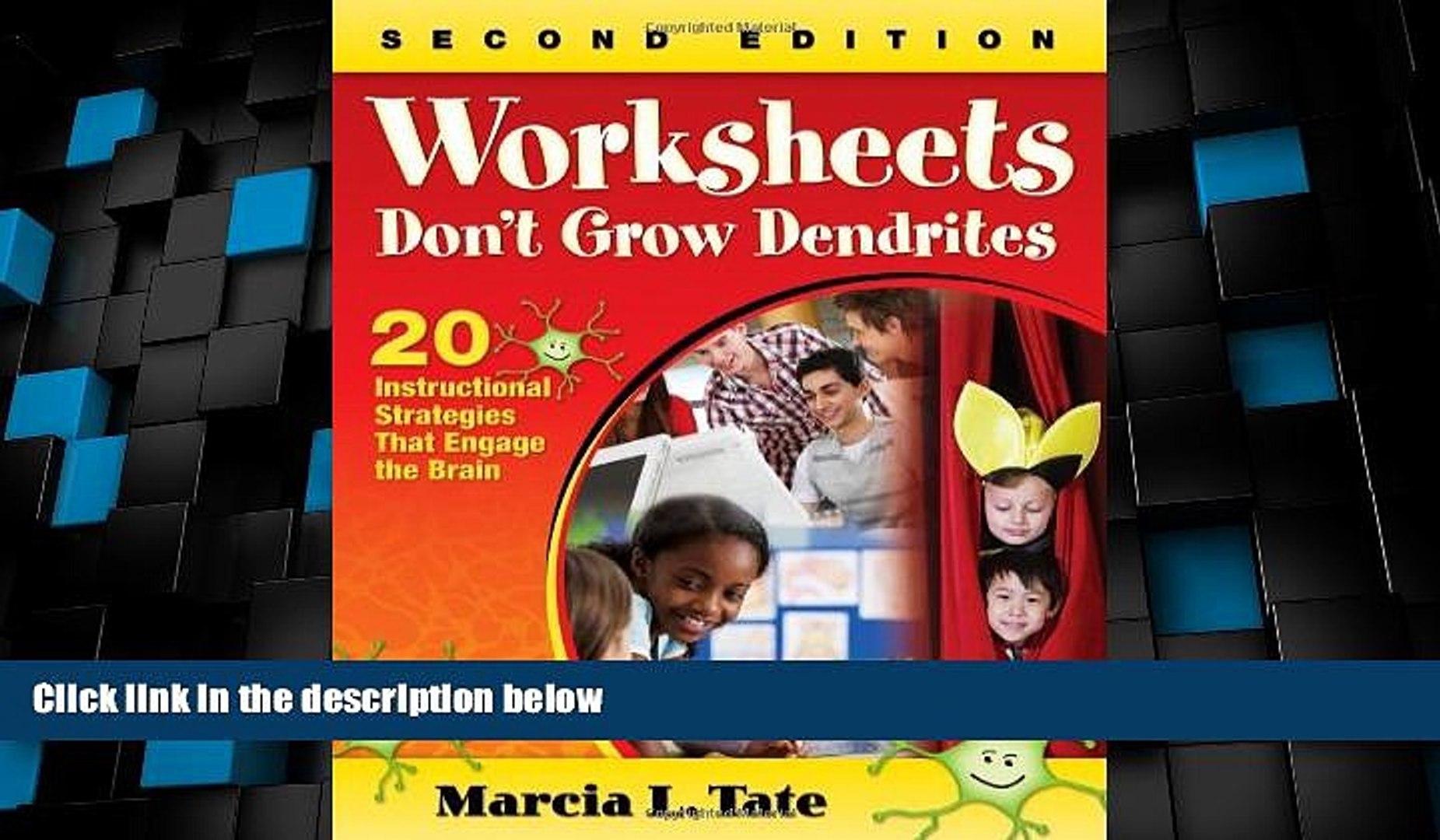 Big Sales Worksheets Don t Grow Dendrites: 20 Instructional ...