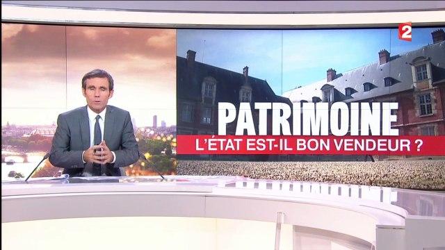 France 2, 20 h du 25 octobre 2016 : La vente du patrimoine national