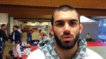 Toma Nikiforov, de retour sur les tatamis, après les Jeux et son opération aux mains, lors des Interclubs...