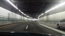 Driving Through Ted Williams Tunnel Boston Massachussetts United States of America USA
