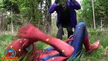 Spiderman vs BEES w Crazy Joker Bees Spidergirl Doctor Spiderman Fun Superhero in Real Life