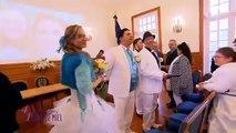 Un marié chante l'hymne de l'OM à la mairie