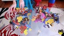 Frozen Elsas GROSS TONGUE! Spiderman Maleficent Joker Pink Spidergirl Candy! Funny Superheroes