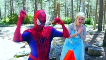 Spiderman vs Frozen Elsa BALL PIT SHOW - Maleficent Pink, Spidergirl, FUN superheroes in Real Life