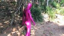 Pregnant Frozen Elsa vs Pregnant Pink Spidergirl vs Doctor! w/ Spiderman, Lady Hulk Superhero
