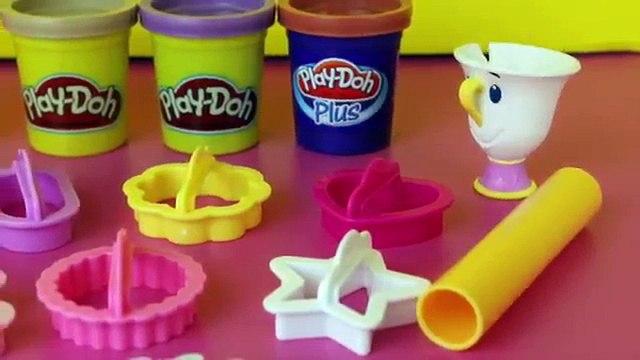 Play Doh Beauty and the Beast Belle Beast Mrs Pots Play-Doh Plus DisneyCarToys