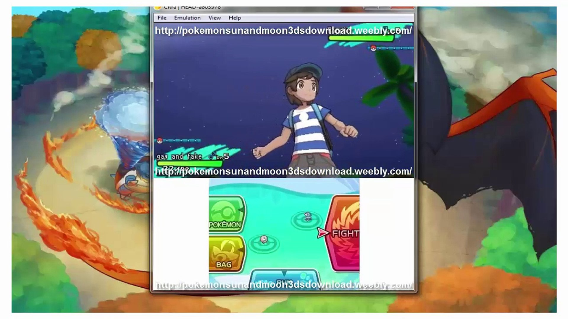 Pokemon Sun and Moon 3DS Rom Downloads + Emulator [CITRA BLEEDING EDGE] -  video dailymotion