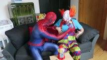 Spiderman GUMBALLS SURPRISE! w/ Frozen Elsa vs Joker Girl Bad Baby Hulk Superheroes IRL