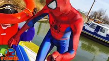 SPIDERMAN Afraid of Spider, Prank on Boat Spider-man vs Spider - Superhero Fun In Real Life - SHMIRL