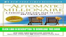 Best Seller The Automatic Millionaire: A Powerful One-Step Plan to Live and Finish Rich Free