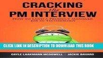 Ebook Cracking the PM Interview: How to Land a Product Manager Job in Technology Free Read