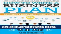 Best Seller Business plan template and example: how to write a business plan: Business planning