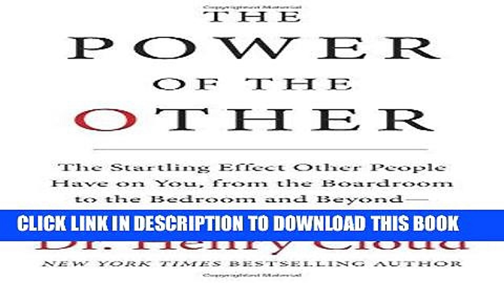 Best Seller The Power of the Other: The startling effect other people have on you, from the