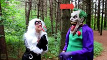 Spiderman & Frozen Elsa vs Joker & Black Cat! w/ Spidergirl Maleficent Bad Baby Hulk! Superhero Fun