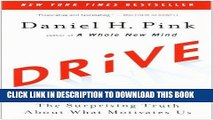 Ebook Drive: The Surprising Truth About What Motivates Us Free Read