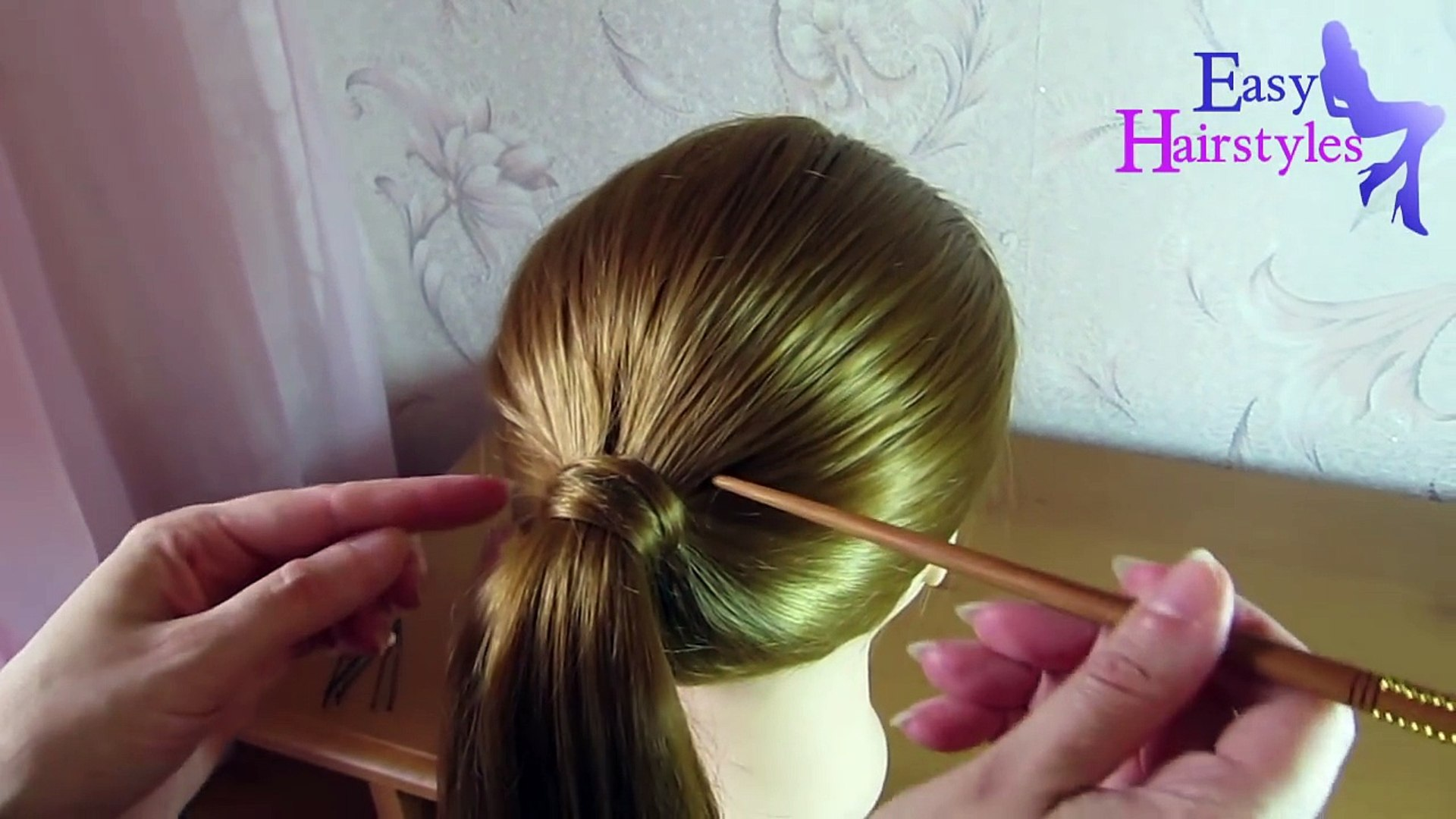 very easy hairstyle with stick