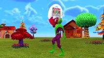 Dinosaurs Spiderman Kinder Surprise Eggs Finger Family Nursery Rhymes For Kids T