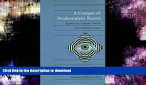 FAVORITE BOOK  A Critique of Psychoanalytic Reason: Hypnosis as a Scientific Problem from