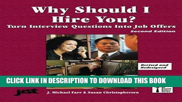 [PDF] Epub Why Should I Hire You?: Turn Interview Questions Into Job Offers (Jist s Job Search
