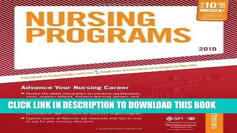 Read Now Nursing Programs – 2010: Advance Your Nursing Career (Peterson s Nursing Programs)