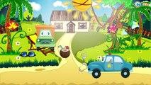 Voiture de police pour enfants - Vidéo Éducative de Voitures - Dessins animés pour enfants