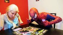 Evil Frozen Elsa vs Spiderman In Real Life w/ Joker Candies Colors Prank Doctor & Fun Superhero