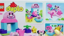 MINNIE MOUSE Disney Lego Duplo Minnie Mouse Cafe and Plane a Mickey Mouse Video Toy Unboxing