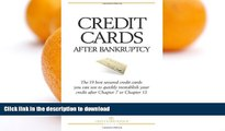 READ BOOK  Credit Cards After Bankruptcy: The 19 best secured credit cards  you can use to