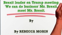 Donald Trump : Brexit leader on Trump meeting We can do business Mr  Brexit, meet Mr  Brexit