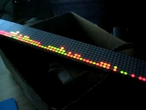 Physically controlled LED display