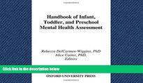 Read Handbook of Infant, Toddler, and Preschool Mental Health Assessment FreeOnline