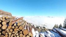 Hautes-Alpes : Survol de la mer de nuages au col de Gleize