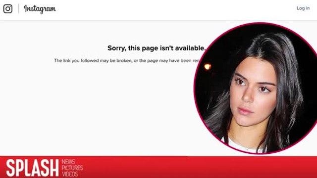 Kendall Jenner's Instagram Suddenly Vanishes