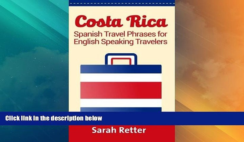 Big Deals Costa Rica: Spanish Travel Phrases For English Speaking Travelers: The most useful | Godialy.com