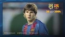 Así fue el primer gol de Leo Messi con el FC Barcelona