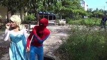 Spiderman and Frozen Elsa blindfolded hit Black Spidey vs maleficent Fun Superheroes movie