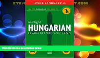 Big Deals  In-Flight Hungarian: Learn Before You Land (English and Hungarian Edition)  Best Seller