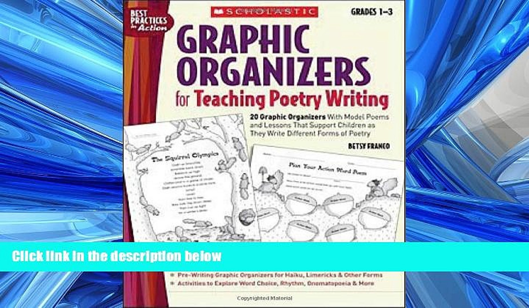 FREE PDF Graphic Organizers for Teaching Poetry Writing: 20 Graphic  Organizers With Model Poems