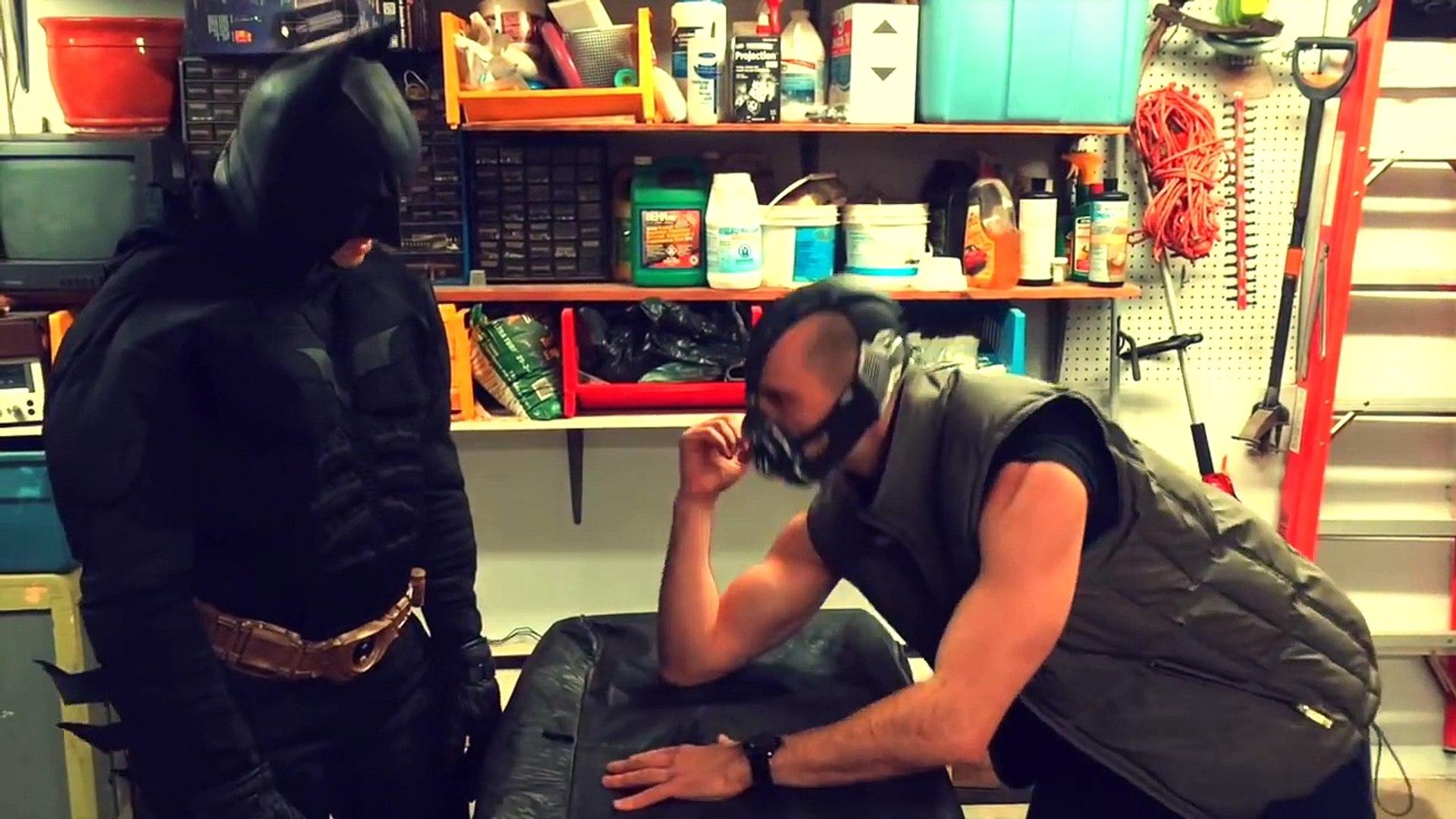 Batman Arm Wrestles - Superhero kid movie