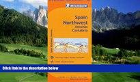 Books to Read  Michelin Spain: Northwest, Asturias, Cantabria Map 572 (Maps/Regional (Michelin))