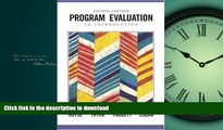 READ  Program Evaluation: An Introduction (Research, Statistics,   Program Evaluation) FULL ONLINE