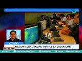 [PTVNews-1pm] Yellow Alert, muling itinaas sa Luzon Grid [07|19|16]