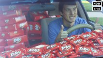 Kit Kat Fills This College Student's Car With 6,500 Candy Bars