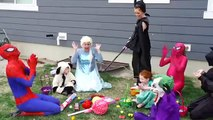 Spiderman & Frozen Elsa Vs Frozen Anna BEWITCHED vs Maleficent vs Makeup Prank Funny Superheroes