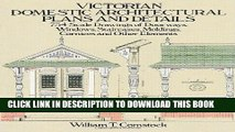 Best Seller Victorian Domestic Architectural Plans and Details: 734 Scale Drawings of Doorways,